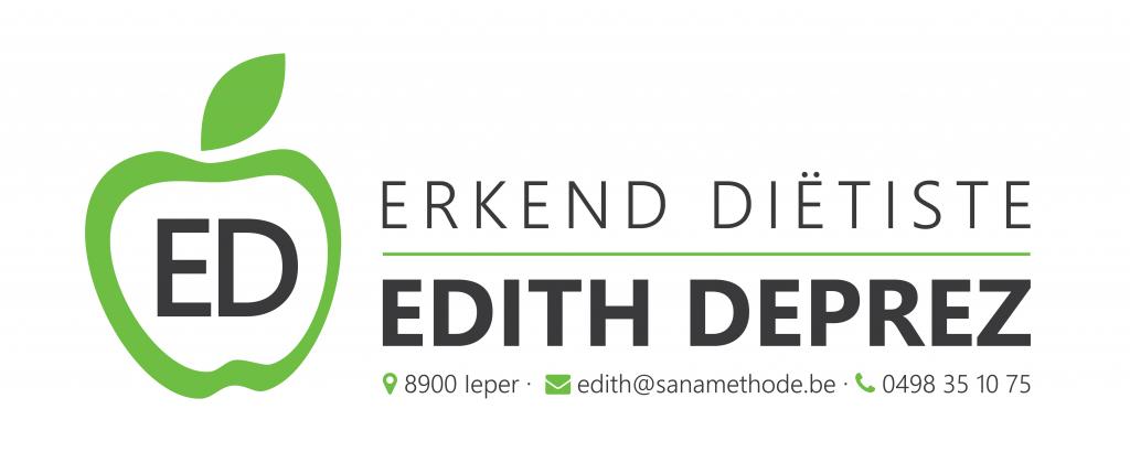 Visitekaart Erkend Diëtiste Edith Deprez